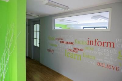 Wejście do Centrum języków obcych Convers